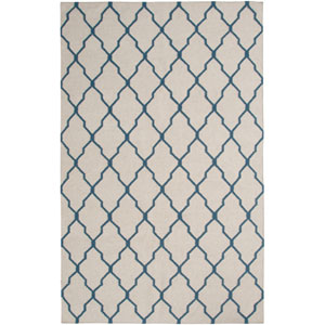 Swing Beige and Blue Rectangular: 5 Ft. x 8 Ft. Rug