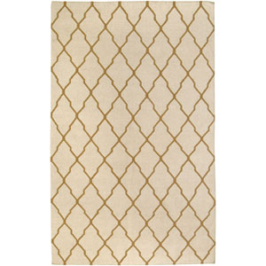 Swing Beige and Gold Rectangular: 5 Ft. x 8 Ft. Rug