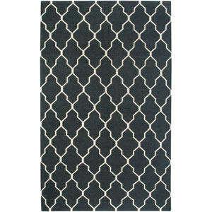 Swing Black and Ivory Rectangular: 5 Ft. x 8 Ft. Rug