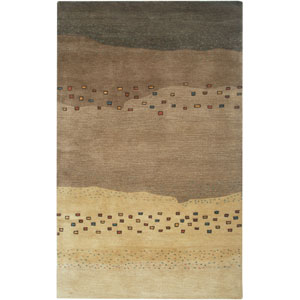 Mojave Beige and Brown Rectangular: 5 Ft. x 8 Ft. Rug