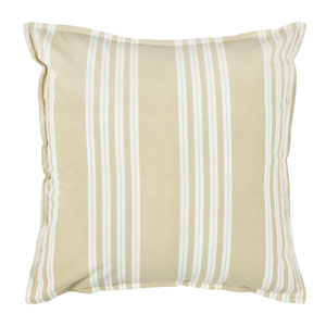 One of a Kind Beige 18-Inch Throw Pillow