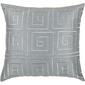 Sheen Square Grey 18-Inch Throw Pillow