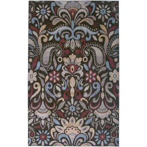 Bayside Brown and Light Blue Rectangular: 5 Ft. 3 In. x 7 Ft. 7 In. Rug