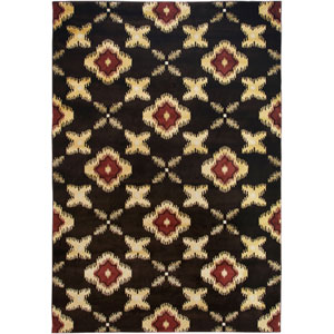 Bayside Brown and Beige Rectangular: 5 Ft. 3 In. x 7 Ft. 7 In. Rug