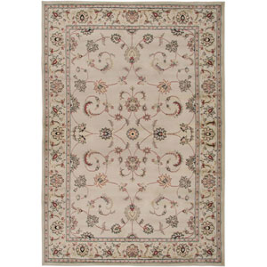 Bayside Ivory and Brown Rectangular: 5 Ft. 3 In. x 7 Ft. 7 In. Rug