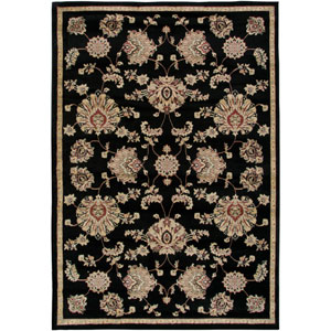 Bayside Black and Ivory Rectangular: 5 Ft. 3 In. x 7 Ft. 7 In. Rug