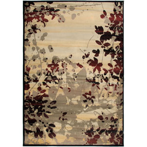 Bayside Beige and Red Rectangular: 5 Ft. 3 In. x 7 Ft. 7 In. Rug