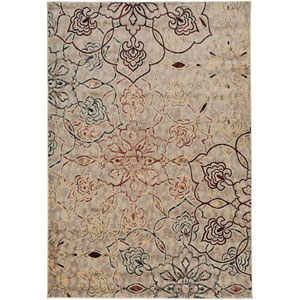 Bayside Ivory, Green and Brown Rectangular: 5 Ft. 3 In. x 7 Ft. 7 In. Rug