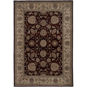 Bellevue Red and Tan Rectangular: 5 Ft. 3 In. x 7 Ft. 7 In. Rug