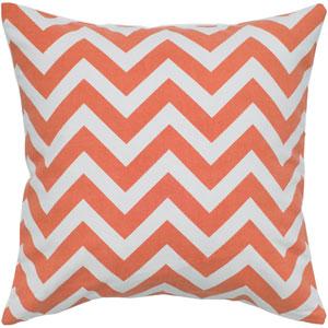 Chevron Print Orange 18-Inch Throw Pillow