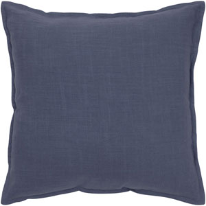 Solid Cotton Navy 20-Inch Throw Pillow