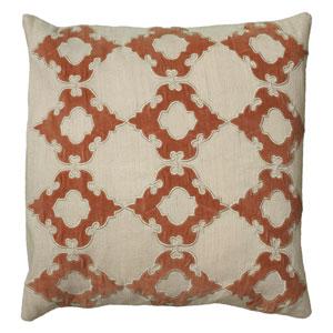 Velvet Heart Natural 18-Inch Throw Pillow
