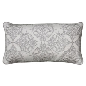 One of a Kind Ivory 11 x 21-Inch Throw Pillow