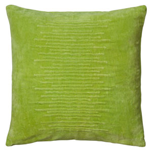 Striated Velvet Lime 20-Inch Throw Pillow