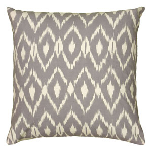 Ikat Grey 18-Inch Throw Pillow