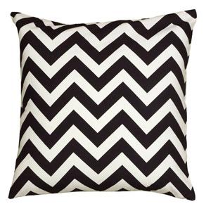 Chevron Black 18-Inch Throw Pillow