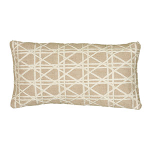 One of a Kind Natural 11 x 21-Inch Throw Pillow