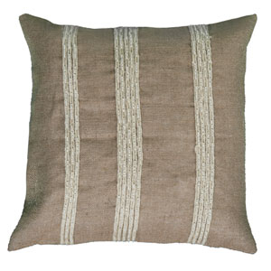 One of a Kind Natural 20-Inch Throw Pillow