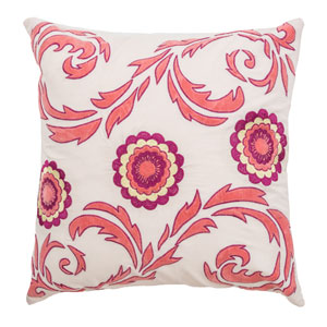 Light Pink 18-Inch Throw Pillow