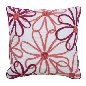 Pink 18-Inch Throw Pillow