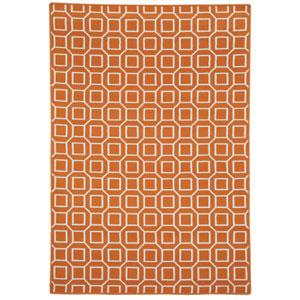 Glendale Orange Rectangular: 2 Ft 3 In x 4 Ft Rug