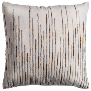 One of a Kind Natural 18-Inch Throw Pillow
