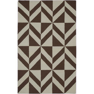 Swing Brown and Gray Rectangular: 5 Ft. x 8 Ft. Rug