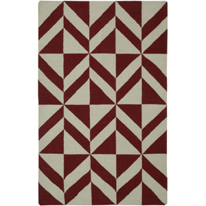 Swing Red and Gray Rectangular: 2 Ft. x 3 Ft. Rug