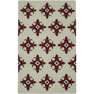 Swing Beige and Red Rectangular: 5 Ft. x 8 Ft. Rug