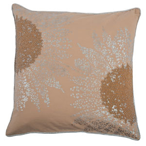 One of a Kind Beige 20-Inch Throw Pillow