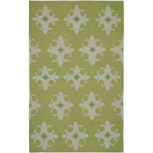 Swing Green and Ivory Rectangular: 5 Ft. x 8 Ft. Rug
