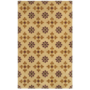 Opus Light Gold and Brown Rectangular: 5 Ft. x 8 Ft. Rug