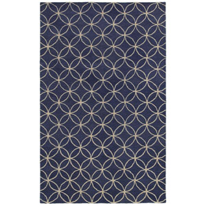 Opus Blue and Ivory Rectangular: 5 Ft. x 8 Ft. Rug