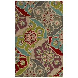 Pandora Multi-Colored Rectangular: 5 Ft. x 8 Ft. Rug