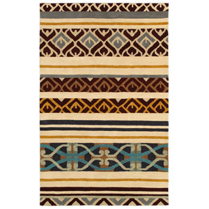 Pandora Beige and Brown Rectangular: 5 Ft. x 8 Ft. Rug