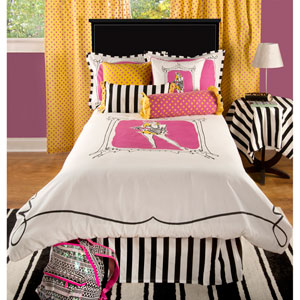 Rachel Kate Jeala Pink Two-Piece Twin Comforter Set