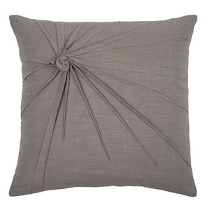 Top Knot Light Grey 18-Inch Throw Pillow