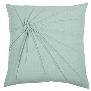 Top Knot Aqua 18-Inch Throw Pillow