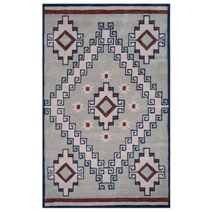 Southwest Gray Rectangular: 2 Ft x 3 Ft Rug