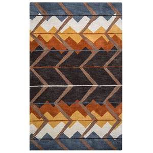 Tumble Weed Loft Multicolor Rectangular: 2 Ft x 3 Ft Rug