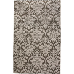 Avant-Garde Rectangle: 5 Ft. 6 In. x 8 Ft. 6 In. Gunmetal Rug