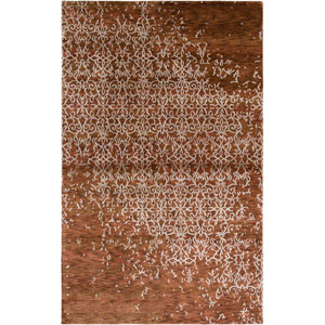 Avant-Garde Rectangle: 5 Ft. 6 In. x 8 Ft. 6 In. Rust Rug