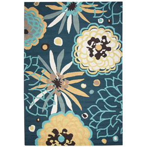 Azzura Hill Navy Rectangular: 2 Ft. x 3 Ft.  Rug