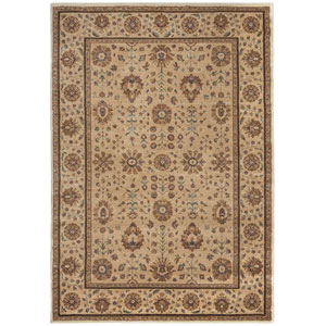 Bellevue Tan and Khaki Round: 7 Ft. 10-Inch x 10 Ft. 10-Inch  Rug