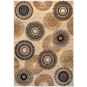 Bellevue Ivory and Tan Rectangular: 3 Ft. 3-Inch x 5 Ft. 3-Inch  Rug