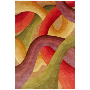 Colours Rectangle: 5 Ft. x 8 Ft. Red Rug