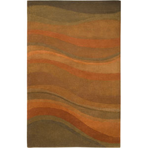 Colours Rectangle: 5 Ft. x 8 Ft. Rust Rug