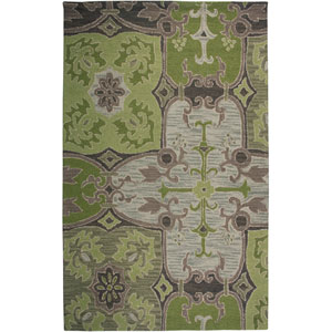 Country Rectangle: 5 Ft. x 8 Ft. Green Rug