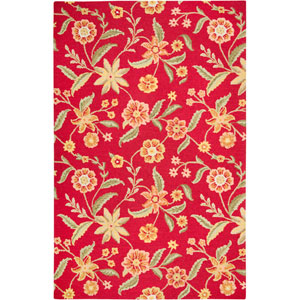 Country Rectangle: 5 Ft. x 8 Ft. Red Rug