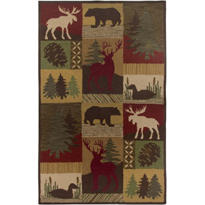 Country Rectangle: 5 Ft. x 8 Ft. Brown Rug